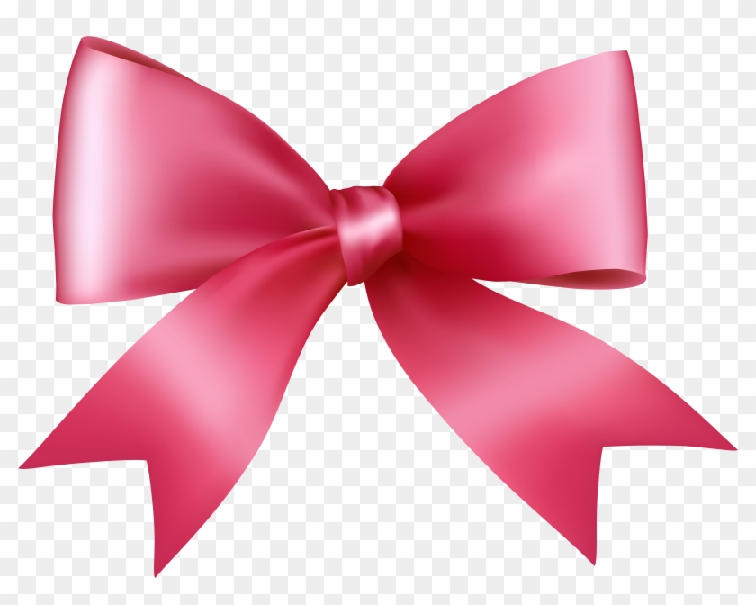 Pink Bow Transparent Png Clip Art Image - Pink Bow Transparent Png Clip Art Image #23491