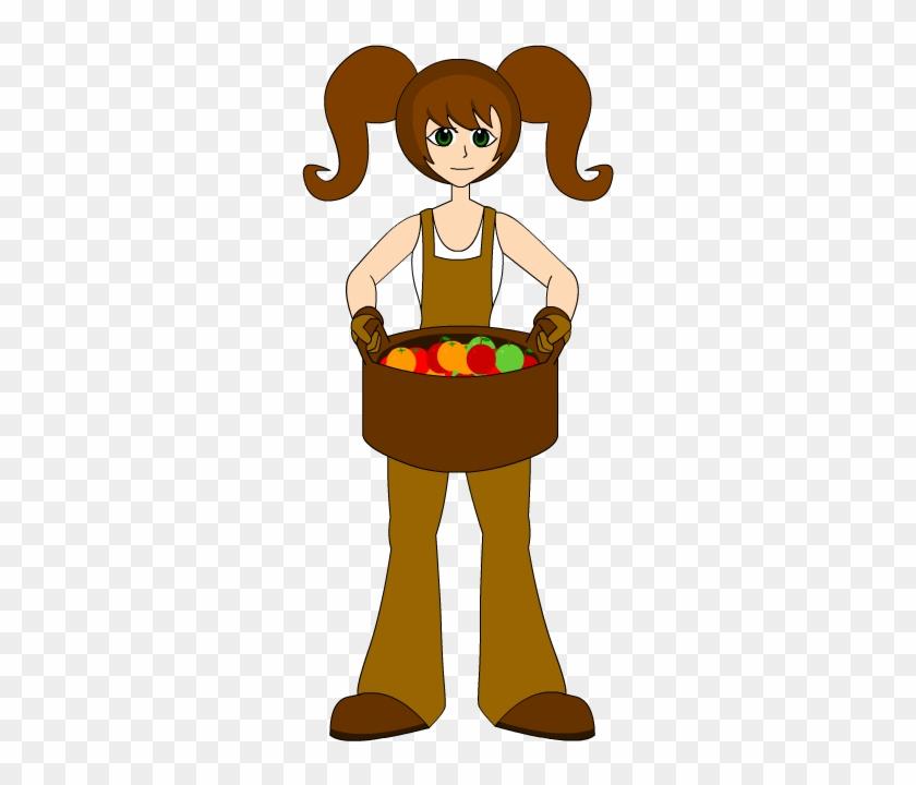 Farm Girl - Female Farmer Clipart Png #23499