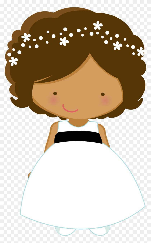 Flower Girl Wedding Bride Page Boy Clip Art - Wedding Flower Girl Clipart #23503