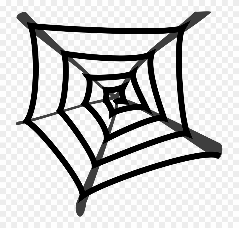 Spider' Web Cobweb Black Gray Art - Spider Web Cartoon Png #23506