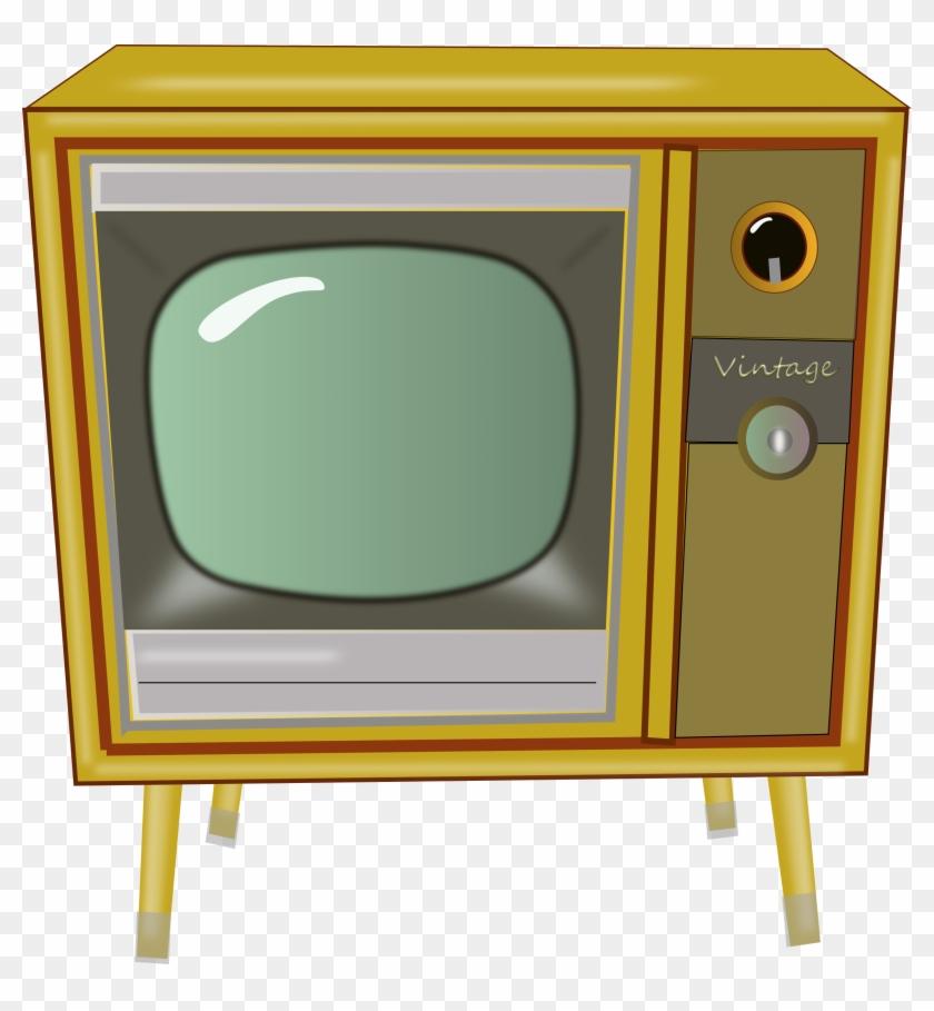 Big Image - Vintage Tv Clipart Png #23548