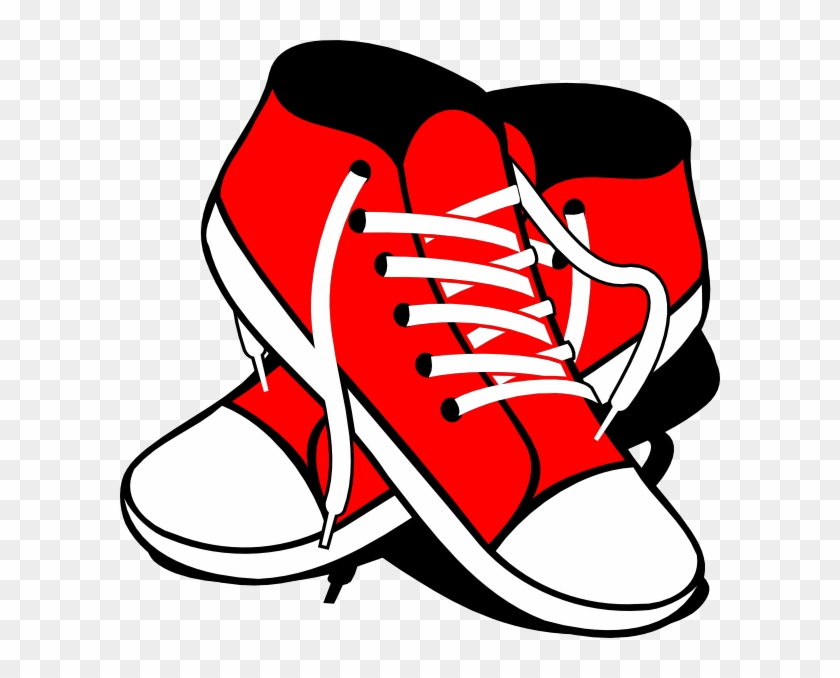 Clipart Pretty Shoes Clipart Sneakers Clip Art At Clker - Tennis Shoes Clipart #23588