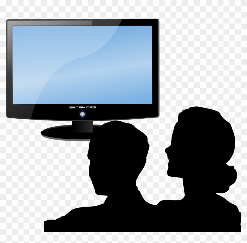 Screen Clipart Tv Time - Person Watching Tv Clipart #23592