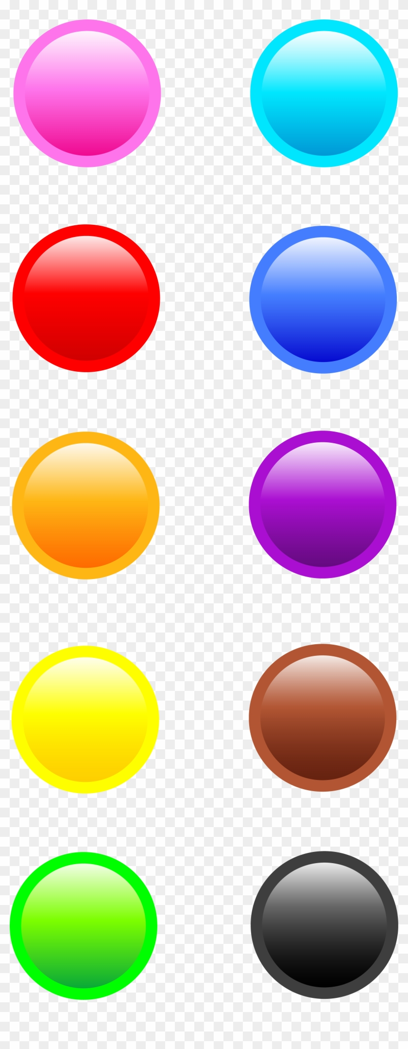 Ten Glossy Round Web Buttons - Web Round Button Png #23640