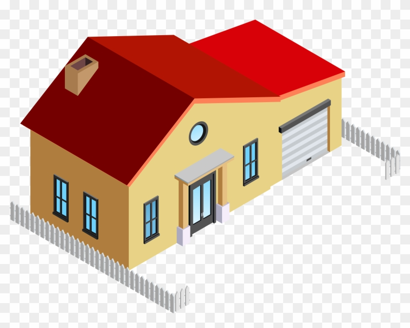 House With Fence Png Clip Art - House With Fence Png Clip Art #23680