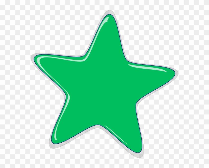 Free Green Star Clipart - Green Star Clipart #23652