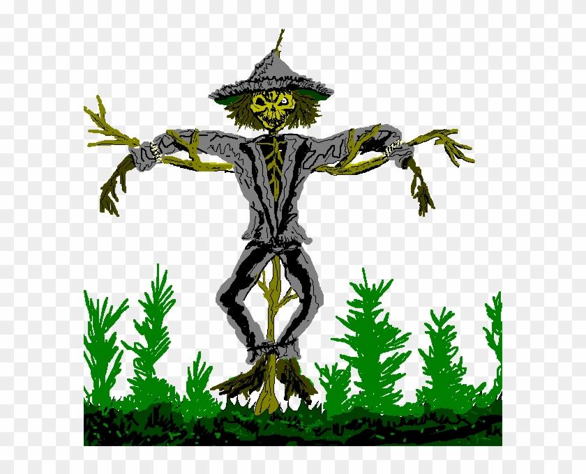 Scarecrow Clip Art - Scary Scarecrow Clipart #23653