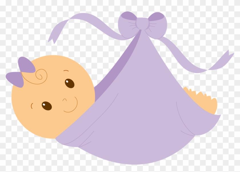 Infant Baby Shower Girl Clip Art - Baby Shower Clip Art Girl #23681