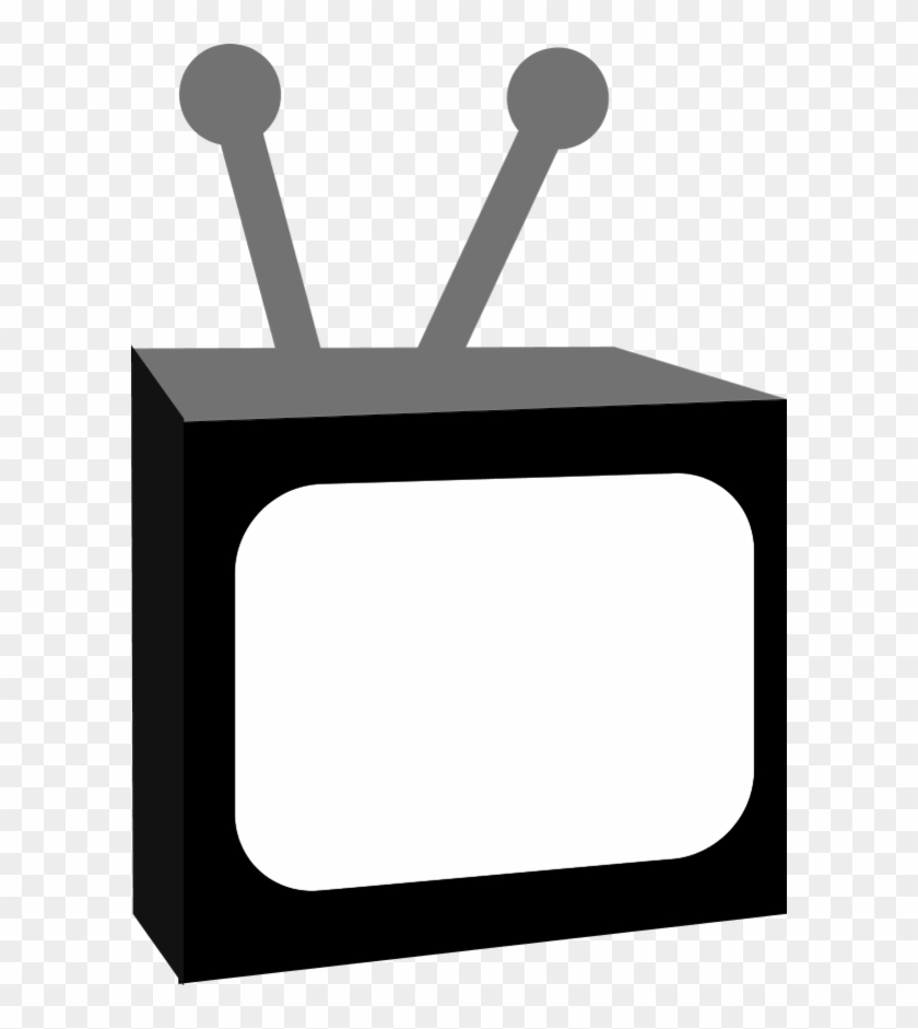 Tv Television Antenna - Dibujo Televisor Blanco Y Negro #23682