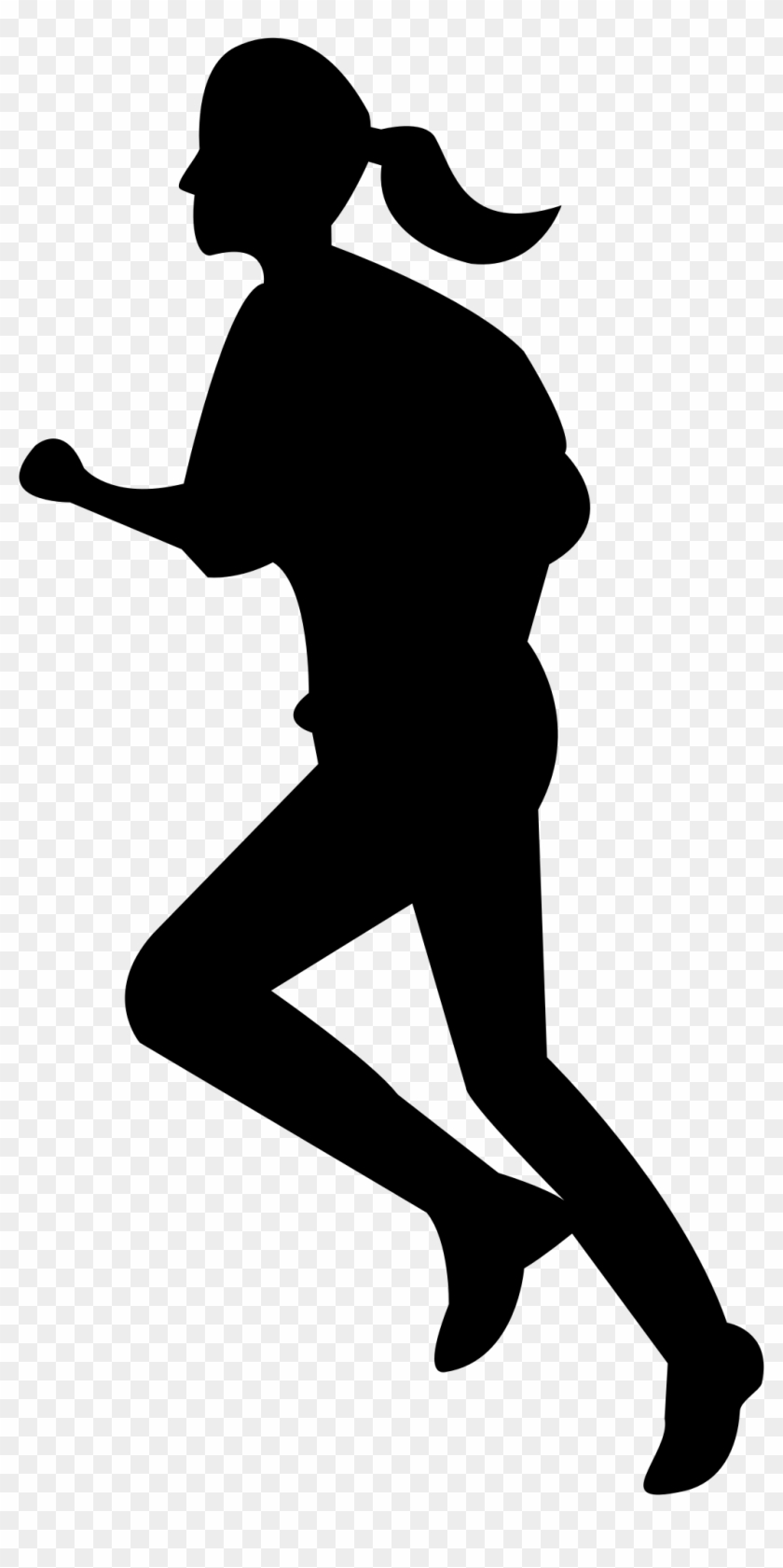"Girls Silhouette Person Running Clipart €"" Rise - Girl Running Clipart Transparent #23704"