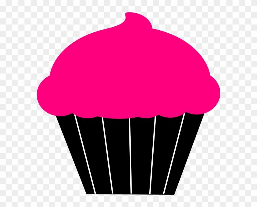 Cupcake Clipart Template - Cupcake Pink Black Clipart #23723