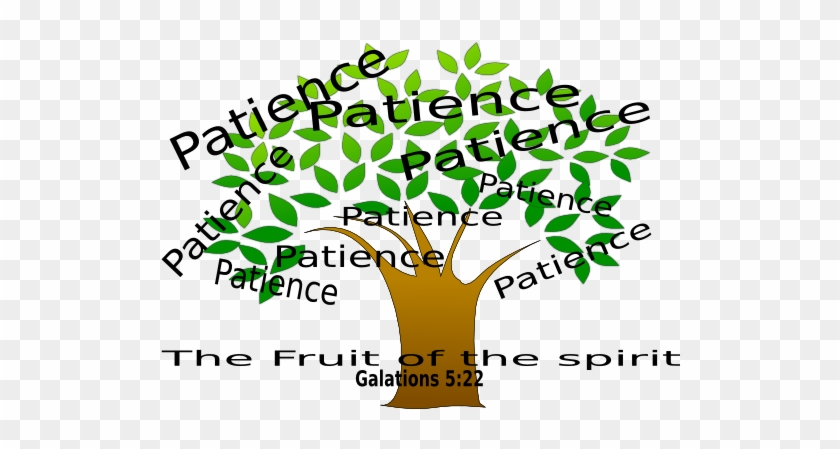 Patience Tree Clip Art - Fruit Of The Spirit Rectangle Magnet - Free  Transparent PNG Clipart Images Download