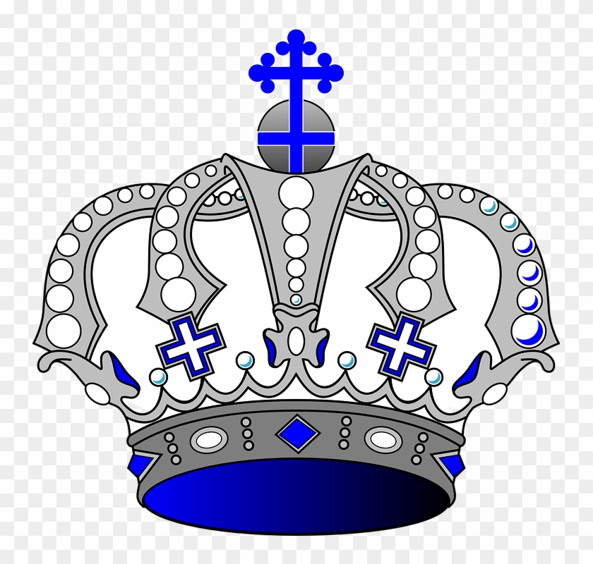 Crown Royal Clipart Blue - Blue And White Crown #23731