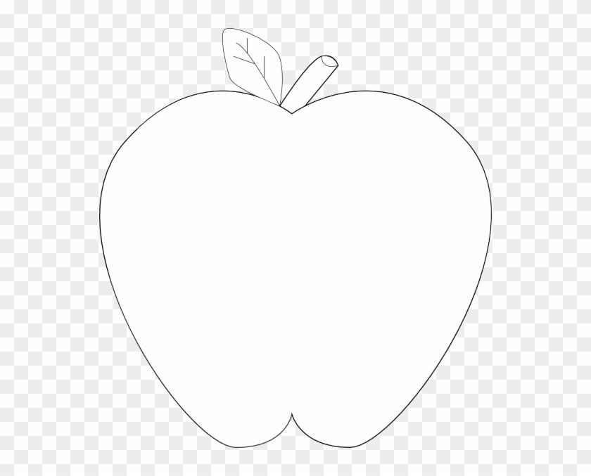 Apple - Clip - Art - Black - And - White - White Transparent #23738