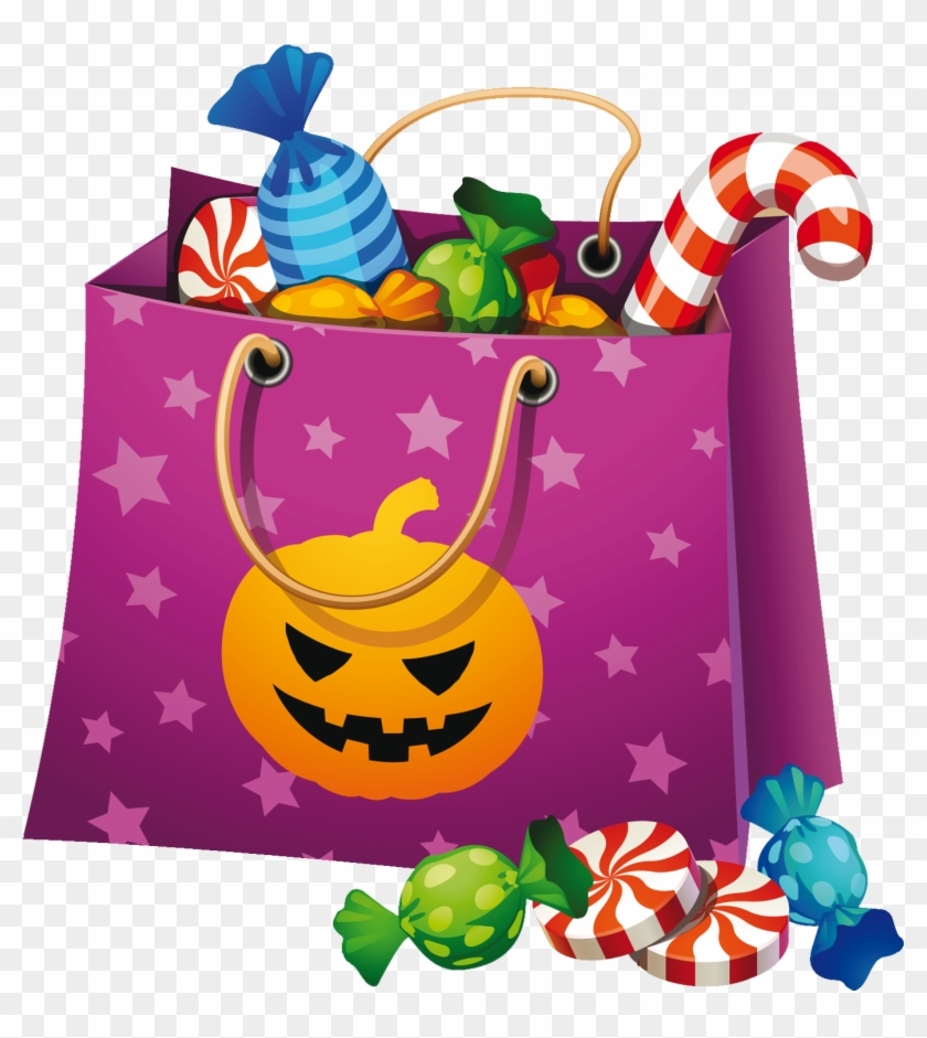 Halloween Candy Bag Clipart - Halloween Candy Clip Art #23743