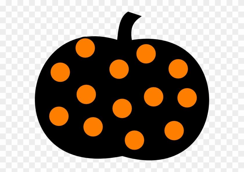 Pumpkin Clip Art At Clker - Polka Dot Pumpkin Clipart #23804