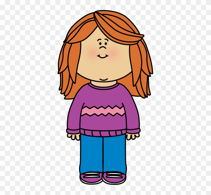 Girl Wearing A Sweater Clip Art Mycutegraphics Girl Free Transparent Png Clipart Images Download