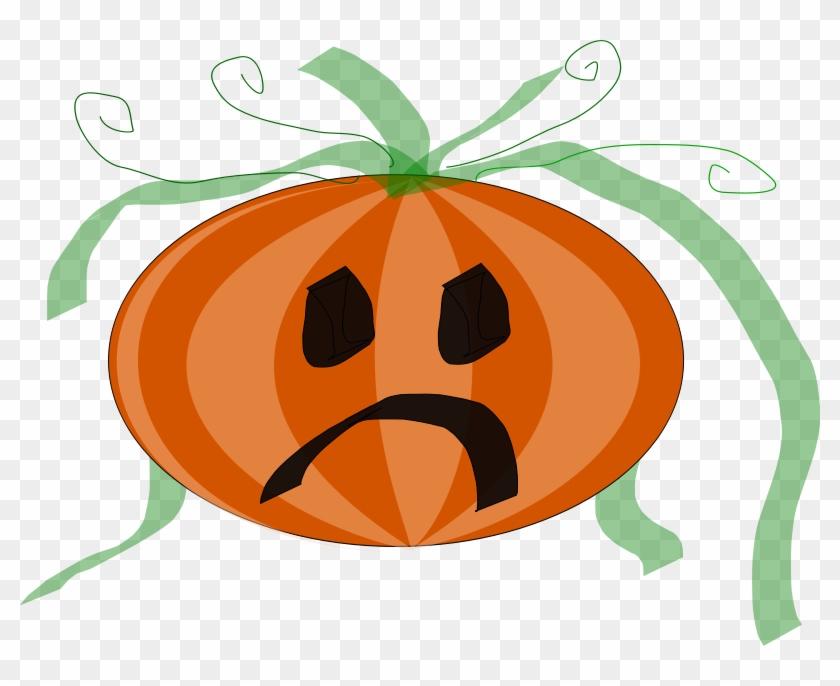 Free Vector Decorated Sad Pumpkin Clip Art - Sad Jack O Lantern #23858