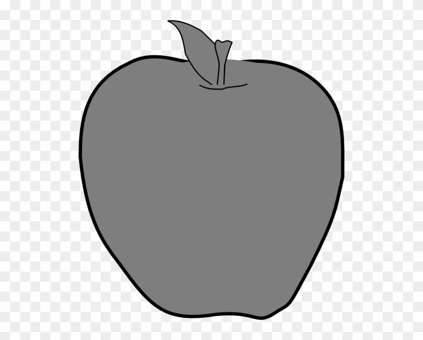Gray Clipart Apple - Gray Apple Clip Art #23900