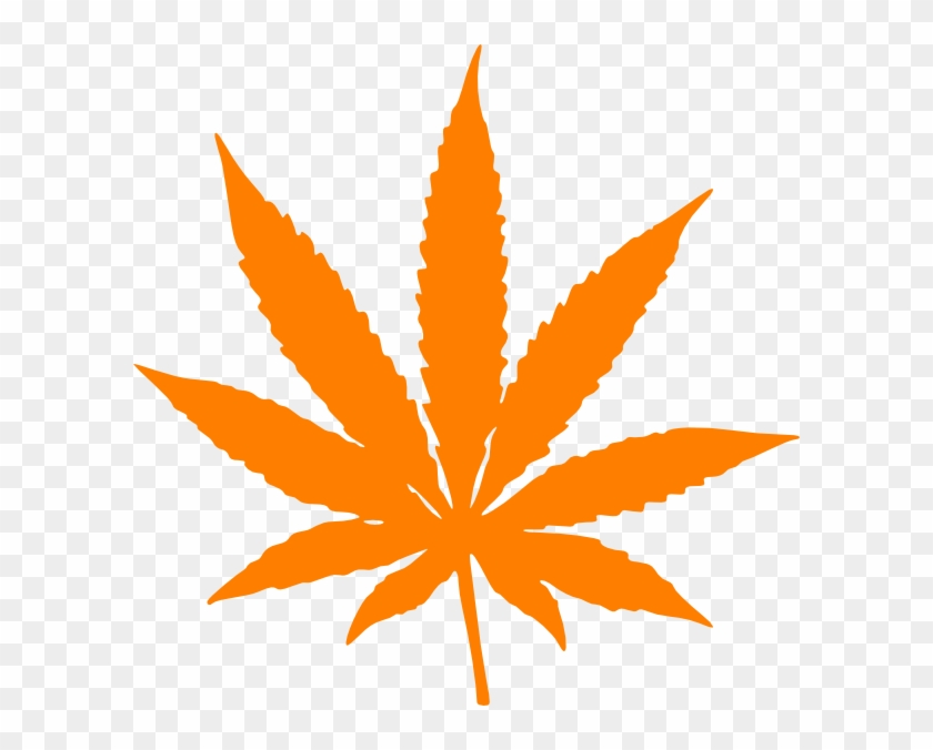 Orange Weed Leaf Clip Art - Marijuana Black And White #23905