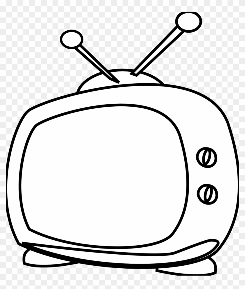 Simple Tv Clipart - Tv White And Black #23921