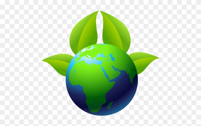 Earth With Leaves Png Clip Art - Environmental Protection #23931