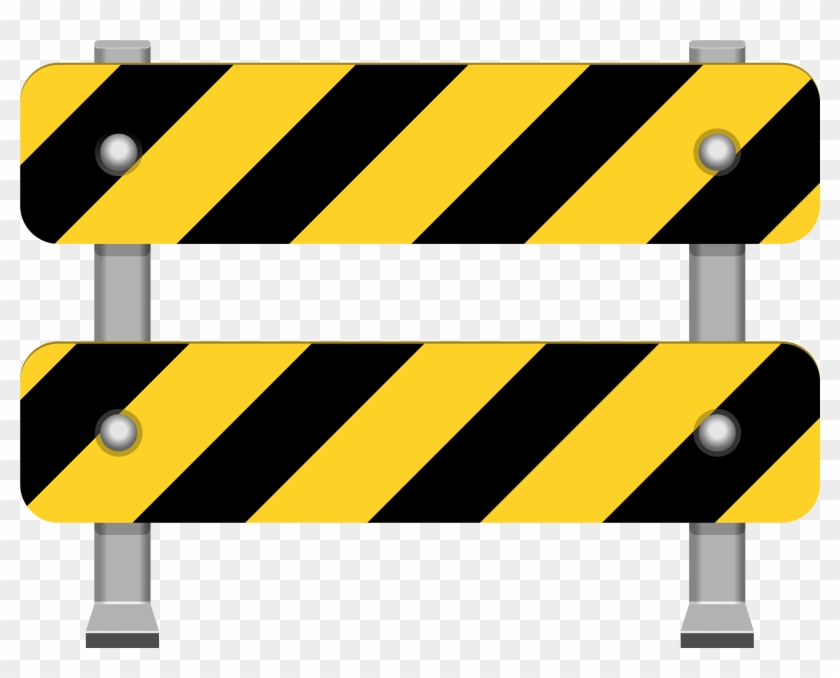 Yellow Road Barricade Png Clip Art - Road Signs Png #23967
