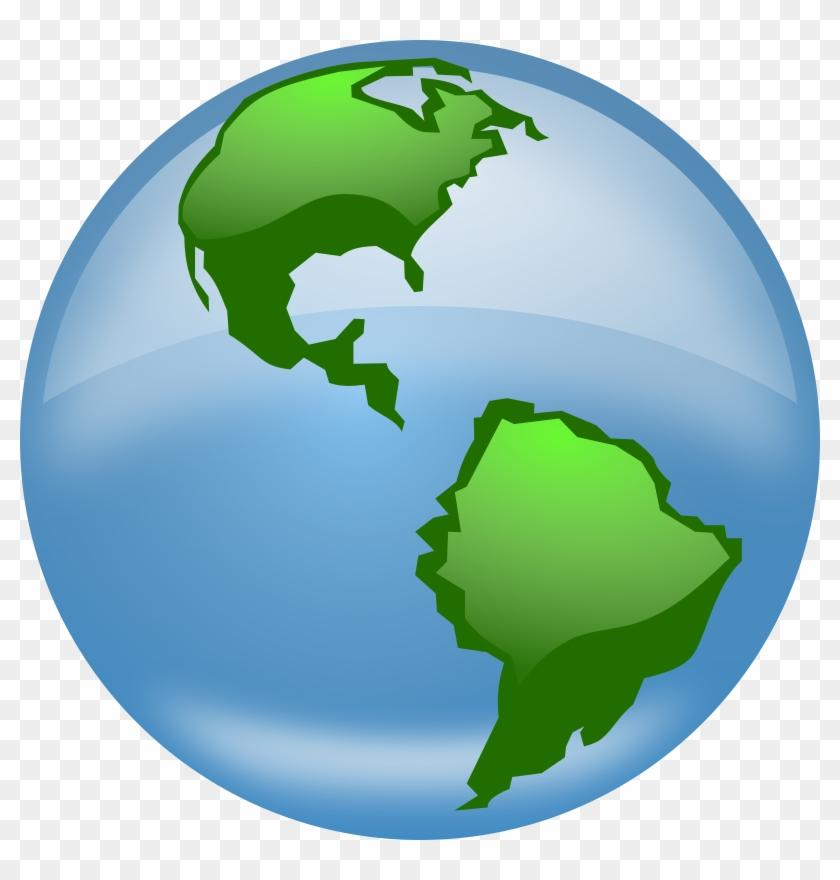 Big Image - Globe Clip Art #24004