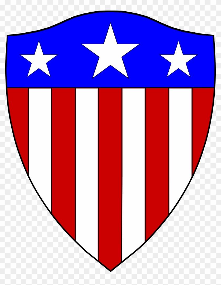 America Clipart Typical - Captain America Original Shield #24026