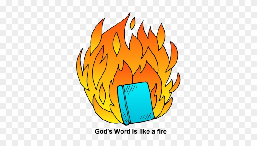 Word Fire - Burning Book Clip Art #24061