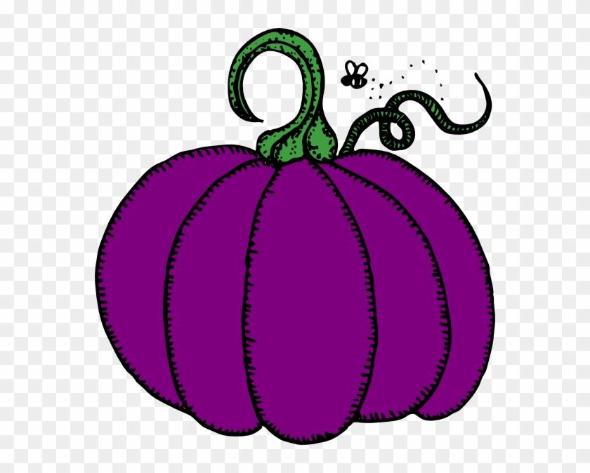 Purple Pumpkin Clip Art - Pumpkin Clip Art #24093
