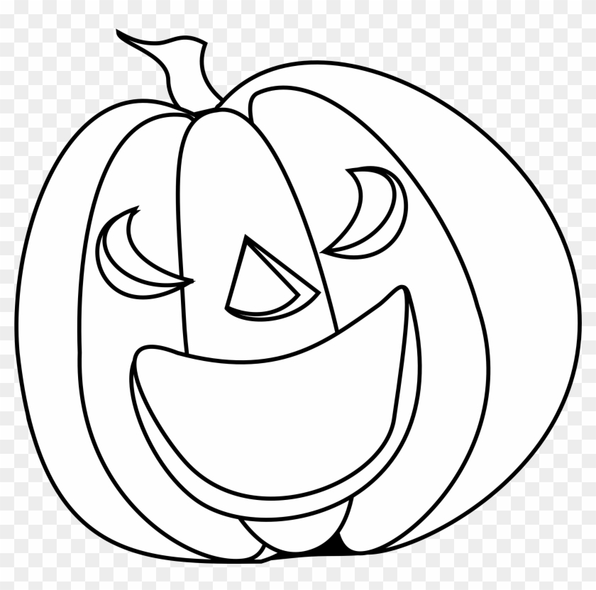 Halloween Pumpkin Smile Halloween Black White Line - White #24155