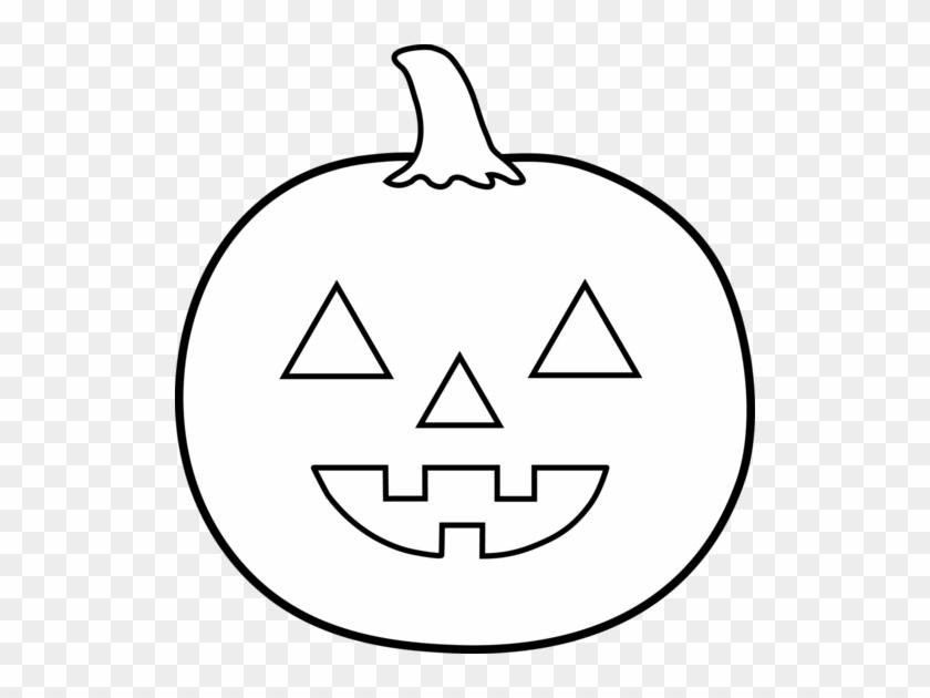 Halloween Jack O Lantern For Coloring - Jack O Lantern Clipart Black ...