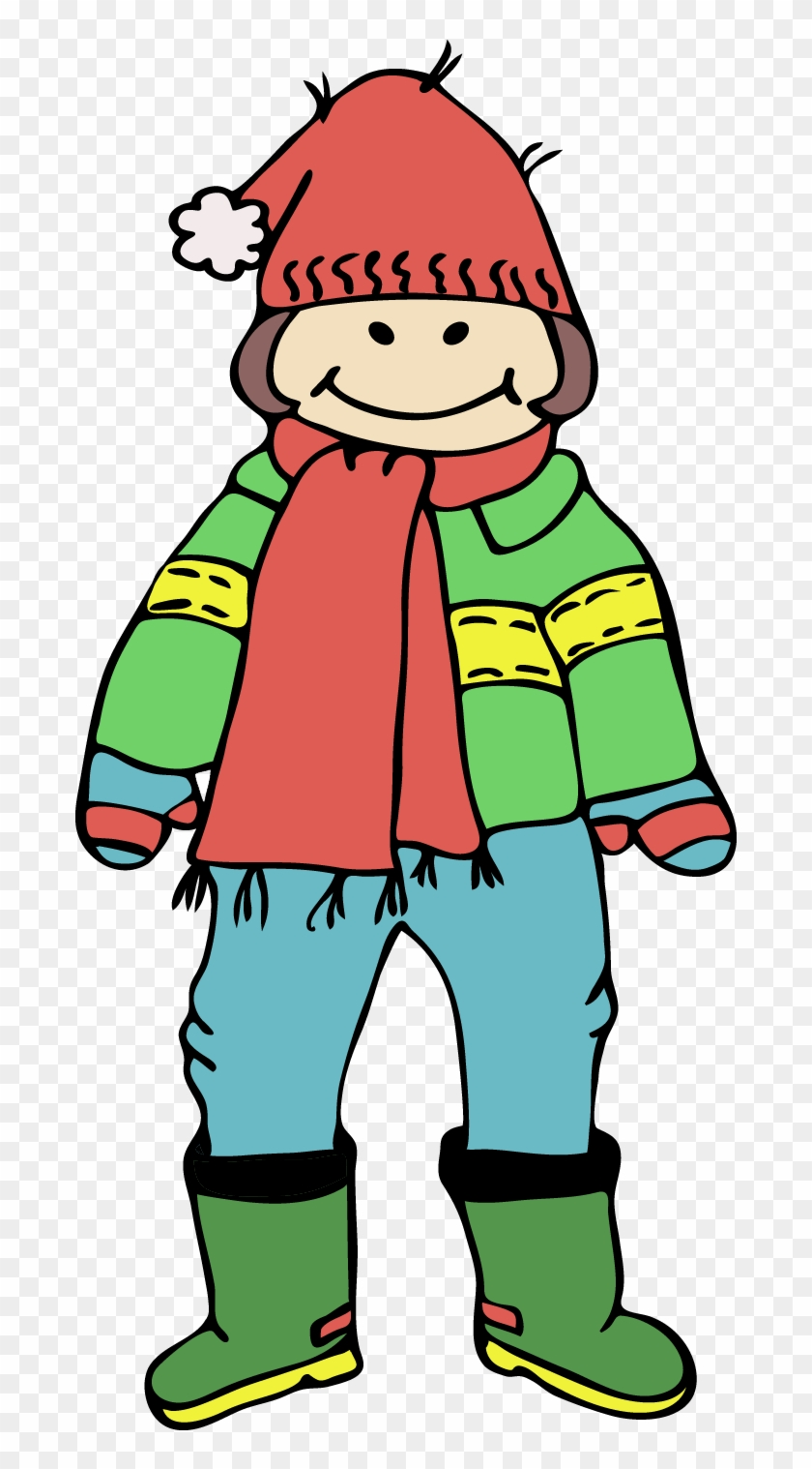 Boy Clipart Winter Clothes - Wearing Jacket Clipart #24209