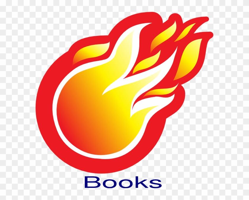 Fire Ball Books Clip Art - Cannon Ball On Fire #24222