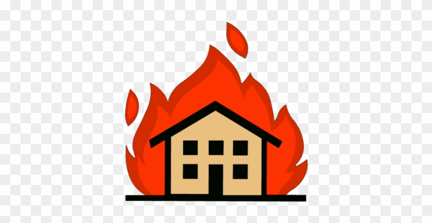 Png House On Fire Transparent House On Fire - Draw A House On Fire #24224