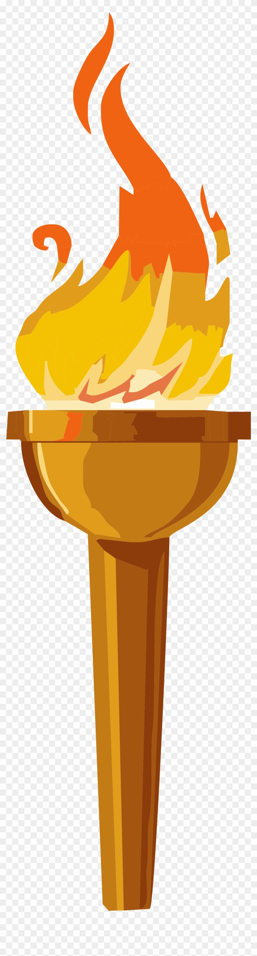 Cartoon Fire Torches , Fire - Olympic Torch Clip Art #24248