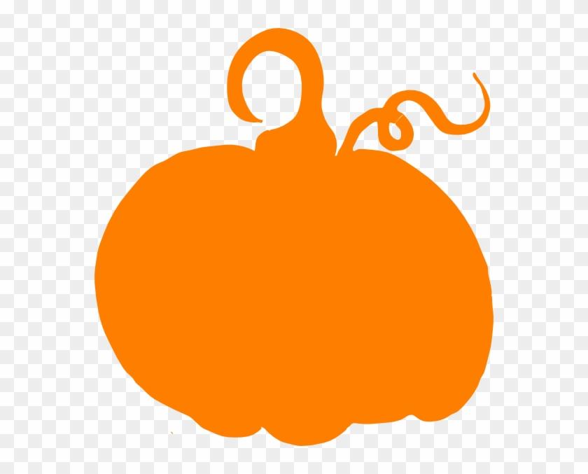 Orange Pumpkin Sihouette Clip Art - Pumpkin Clip Art #24257