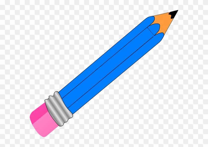 Clipart Pencil Pencil Clip Art At Clker Vector Clip - Blue Pencil Clipart #24280