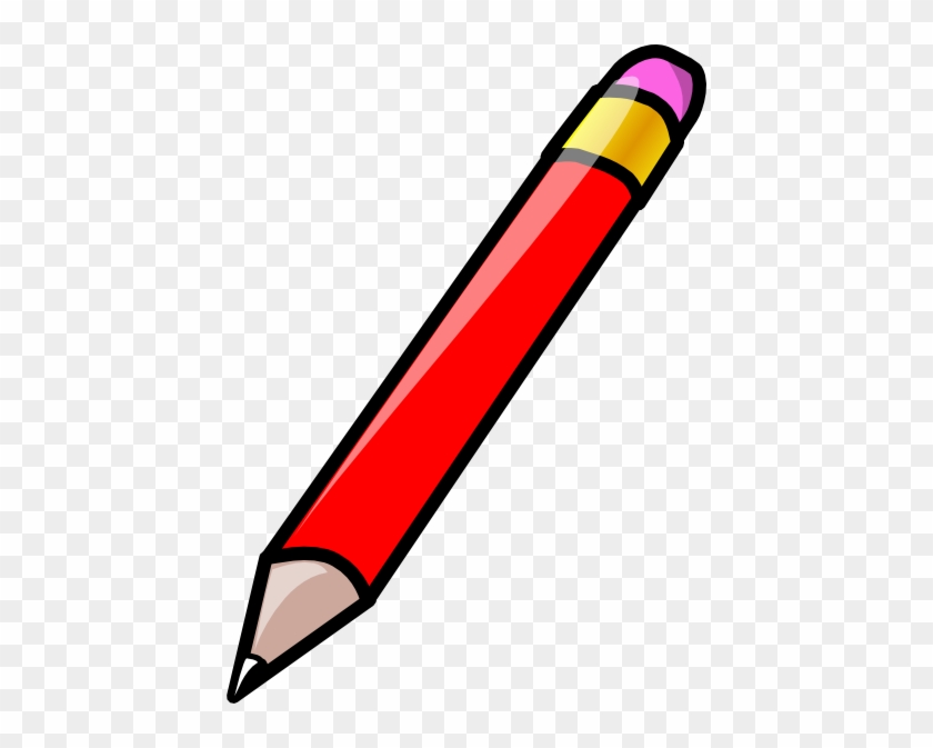 Clip Art Red Pencil #24282
