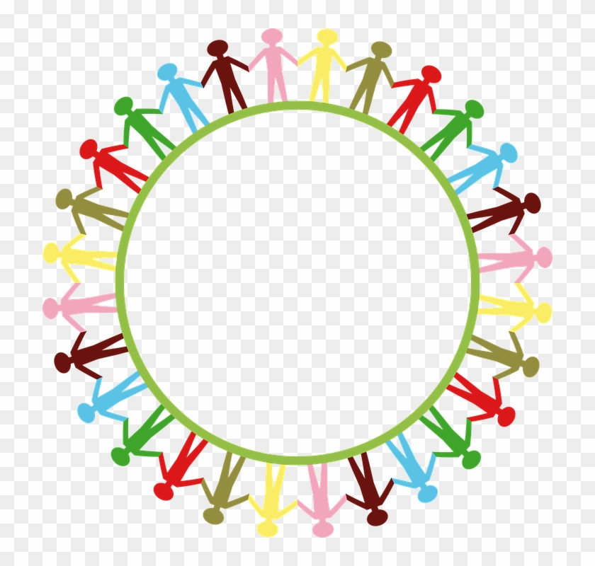 Earth Clipart Circle - We Are One Big Family #24288