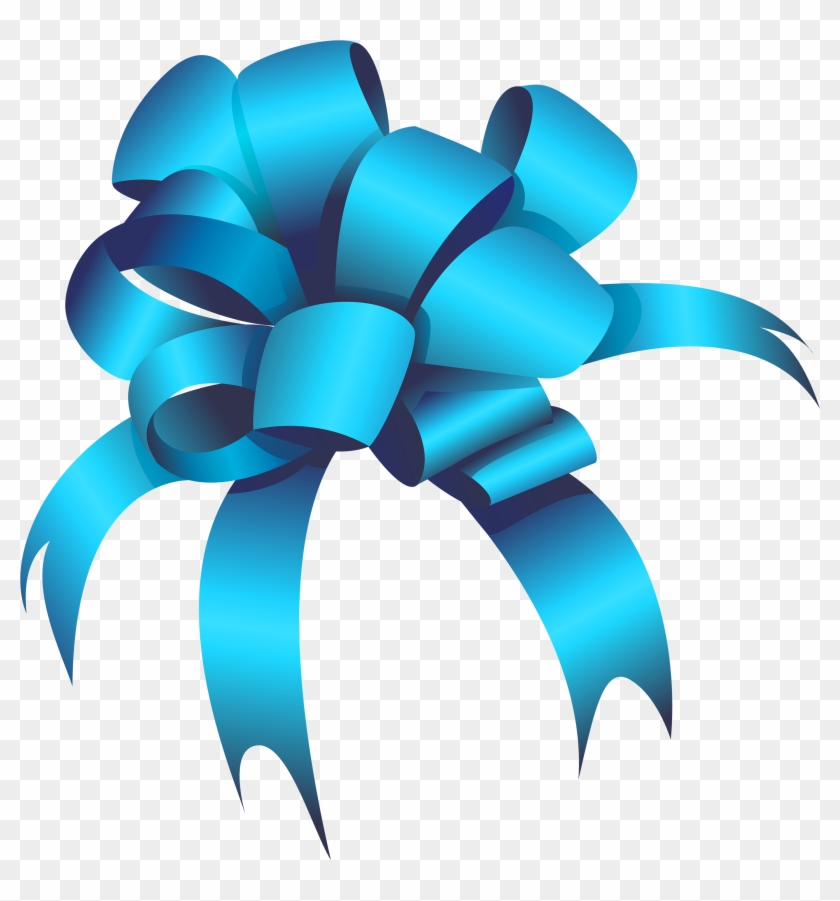Blue Bow Clipart Web Clipart - Blue Bow Png #24324