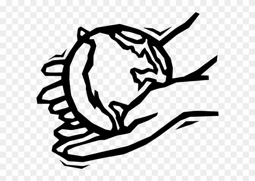 Earth In Gentle Hands Clip Art Free Vector / 4vector - Helping Hands Clip Art #24331