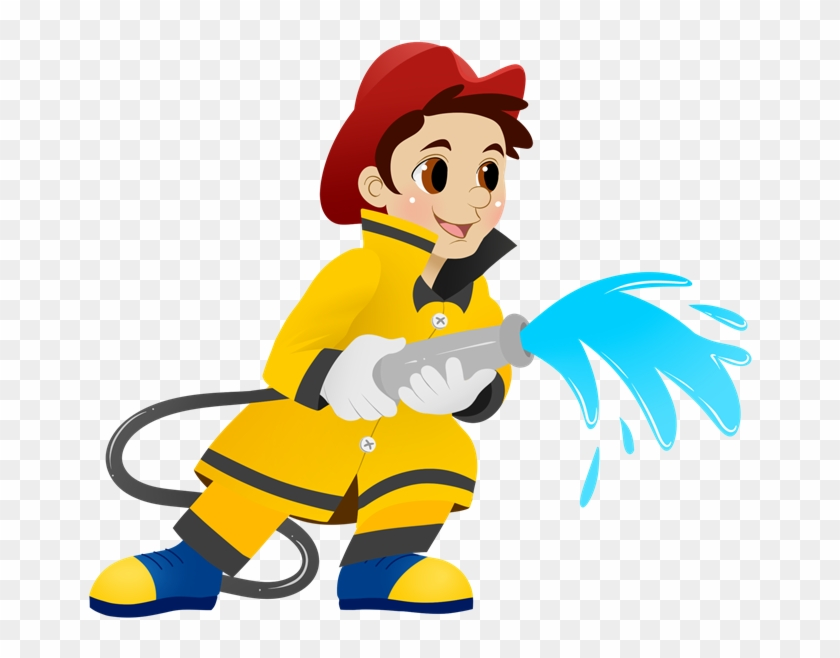 Cute Fire Cliparts - Clip Art Fireman #24334