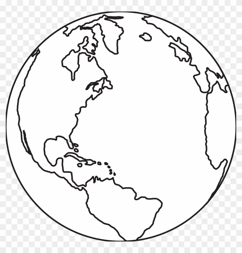 Black And White Earth Drawing - Earthclipart Black And White #24335