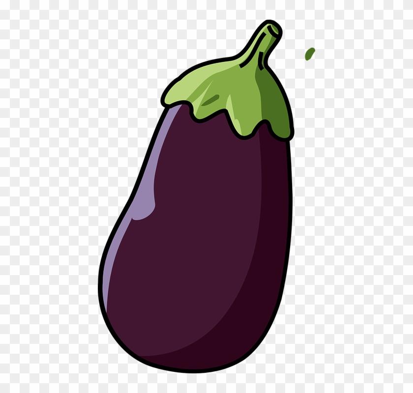 Violet Clipart Vegetable - Eggplant Clipart #24345