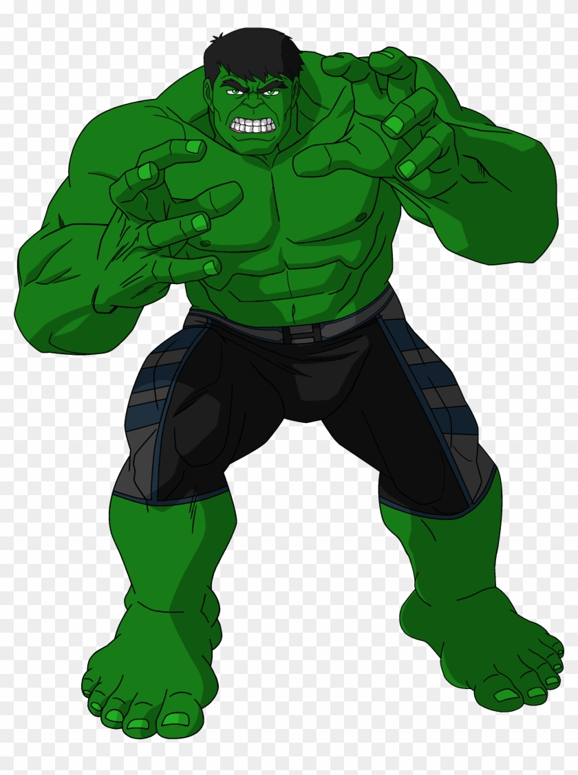Comics Clipart Hulk - Cartoon Hulk Transparent #24359