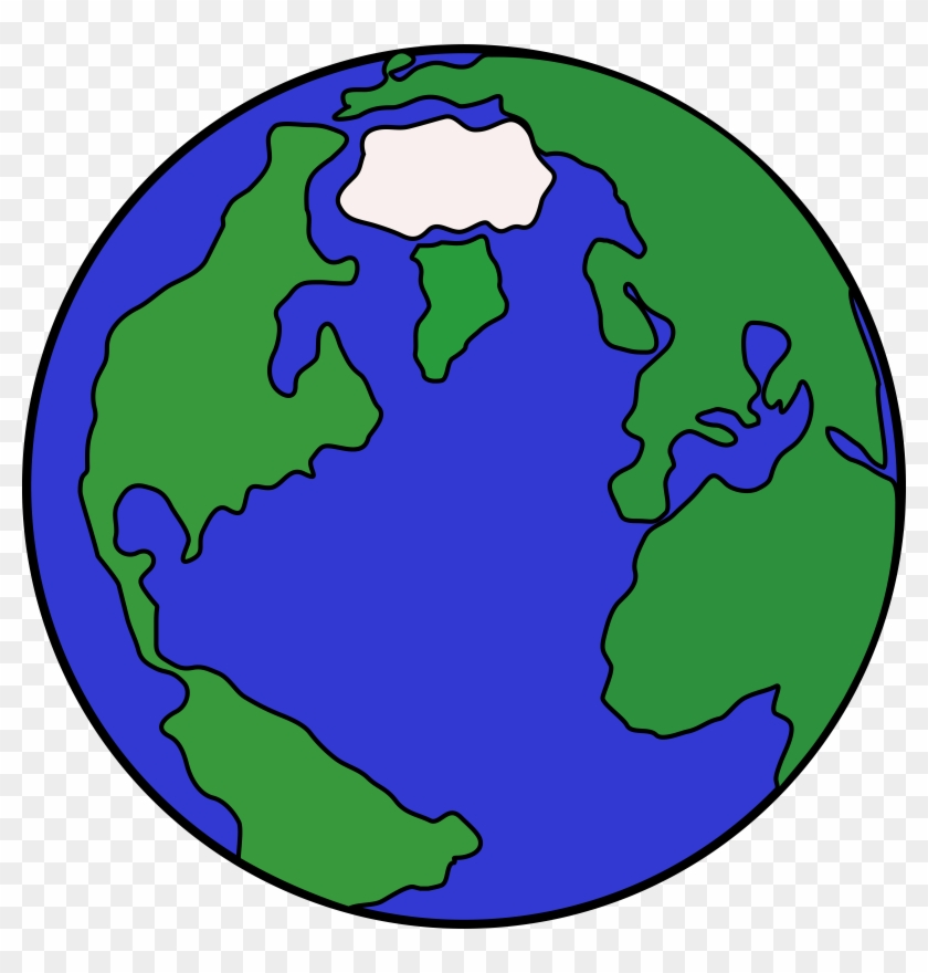 Planet Clip Art Hostted - Cartoon Globe #24371