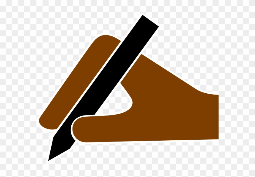 Hand With Pencil Vector #24379