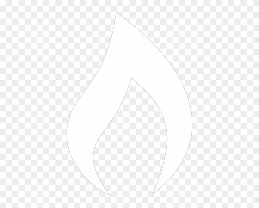 Holy Spirit Flame Clipart - White Flame Vector Png #24386